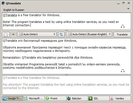 QTranslate – Türkçe Tercüme program indir