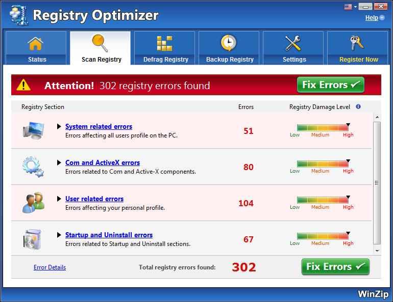 WinZip Registry Optimizer indir