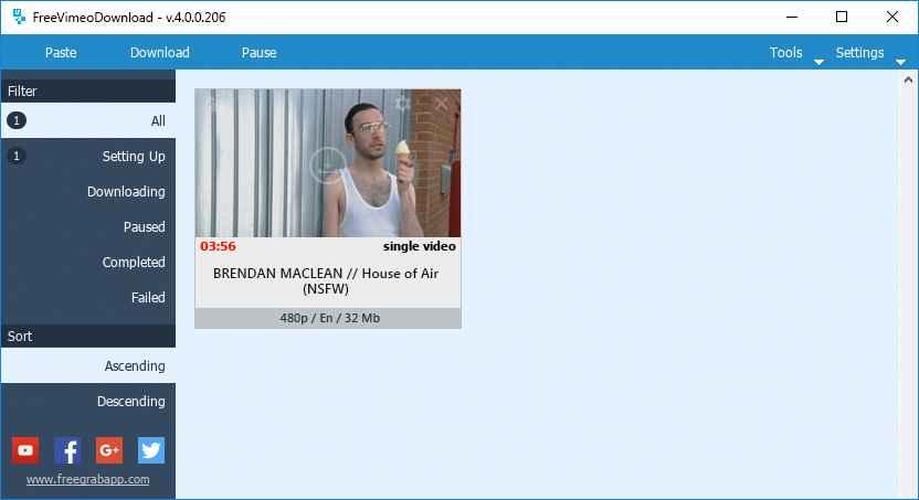 FeeGrapApp Free Vimeo Download indir