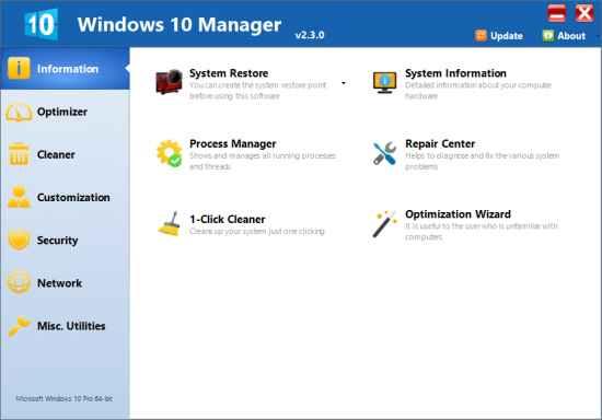 Yamicsoft Windows 10 Manager İndir