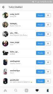 Instagram takip isteği kapatma