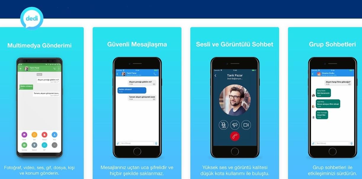Dedi Uygulaması indir – Android Anlık Mesajlaşma Uygulaması