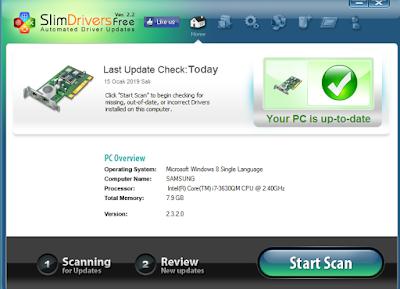SlimDrivers indir – Sürücü Güncelleme Programı